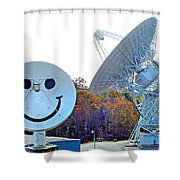 Smiley And 26 West Antennas Shower Curtain