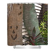 Smiley Tree Shower Curtain
