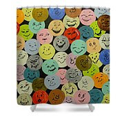Smilies Shower Curtain