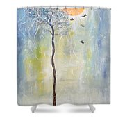 Smiling At Days End Shower Curtain