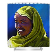 Smiling Lady Shower Curtain
