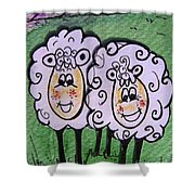 Ewe And Me Smiling  Shower Curtain