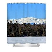 Smith Pond Katahdin View Shower Curtain