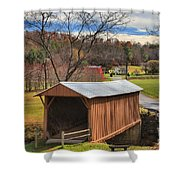 Smith River Covered Bridge Shower Curtain