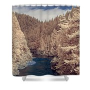 Smith River Forest Canyon Shower Curtain
