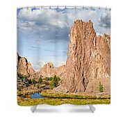Smith Rock And The Crooked River Shower Curtain