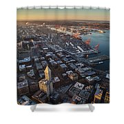 Smith Tower And West Seattle Shower Curtain