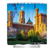 Smithsonian Castle Shower Curtain by Inge Johnsson