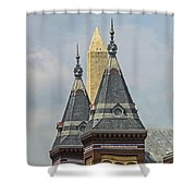 Smithsonian Towers Shower Curtain