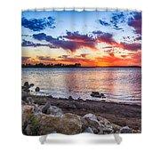 Smithville Lake Sunset Shower Curtain