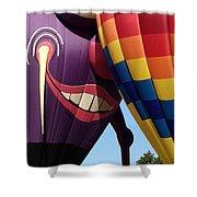 Smitten Hot Air Balloon Shower Curtain