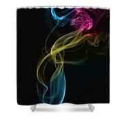 Smoke Abstract Shower Curtain
