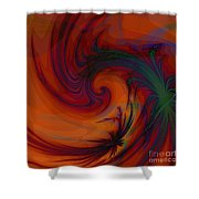 Smoke And Feathers Shower Curtain