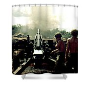 Smoke And Noise Shower Curtain