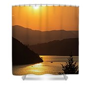 Smoke From Bc Wildfires Adds Colour Shower Curtain