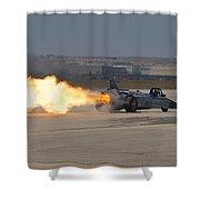Smoke N Thunder Jet Car Shower Curtain