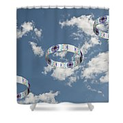 Smoke Rings In The Sky 2 Shower Curtain