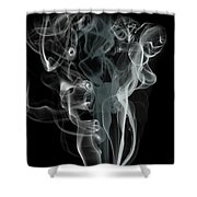Smoke Skull Shower Curtain
