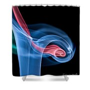 Smoke Trails Shower Curtain