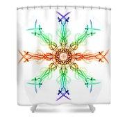 Smoke Wheel 2 Shower Curtain