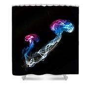 Smoked Jellyfish Shower Curtain