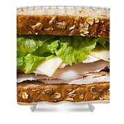 Smoked Turkey Sandwich Shower Curtain by Edward Fielding