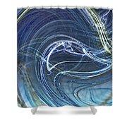 Smokescreen Fractal 1 Shower Curtain