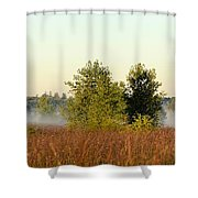 Smokey Autumn Prairie Shower Curtain