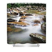 Smokey Mountain Creek Shower Curtain