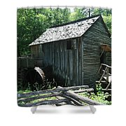 Smoky Mountain Grist Mill Shower Curtain
