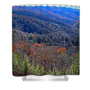 Smokey Mountain Pass Shower Curtain