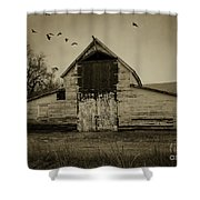 Smokey Prairie Barn  Shower Curtain