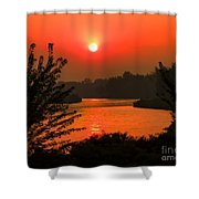 Smokey Sunrise Shower Curtain