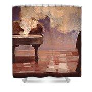 Smokin Piano Shower Curtain