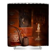 Smoking Pipe Shower Curtain by Amanda Elwell