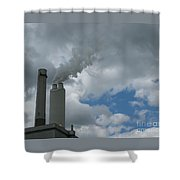 Smoking Stack Shower Curtain