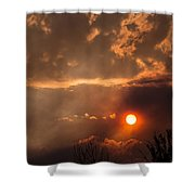 Smoky Clouds Over The Rogue Valley Shower Curtain
