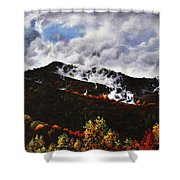 Smoky Mountain Angel Hair Shower Curtain