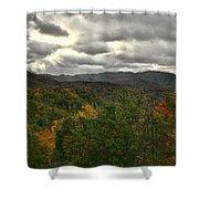 Smoky Mountain Autumn View Shower Curtain