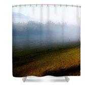 Smoky Mountain Blush Shower Curtain