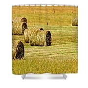 Smoky Mountain Hay Shower Curtain by Frozen in Time Fine Art Photography