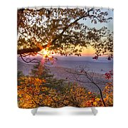 Smoky Mountain High Shower Curtain by Debra and Dave Vanderlaan