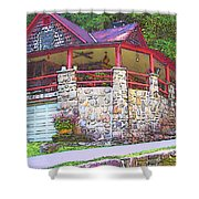 Old Log Cabin - Smoky Mountain Home Shower Curtain
