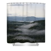 Smoky Mountain Mist Shower Curtain