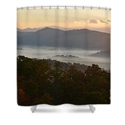 Smoky Mountain Morning Shower Curtain