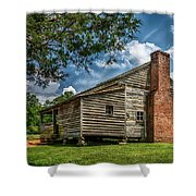 Smoky Mountain Pioneer Cabin E126 Shower Curtain
