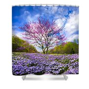 Smoky Mountain Spring Shower Curtain
