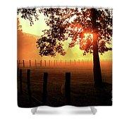 Smoky Mountain Sunrise Shower Curtain