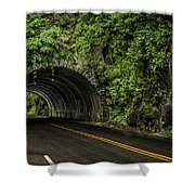 Smoky Mountain Tunnel In The Rain E123 Shower Curtain
