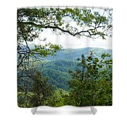 Smoky Mountain View Laurel Falls Trail Shower Curtain
